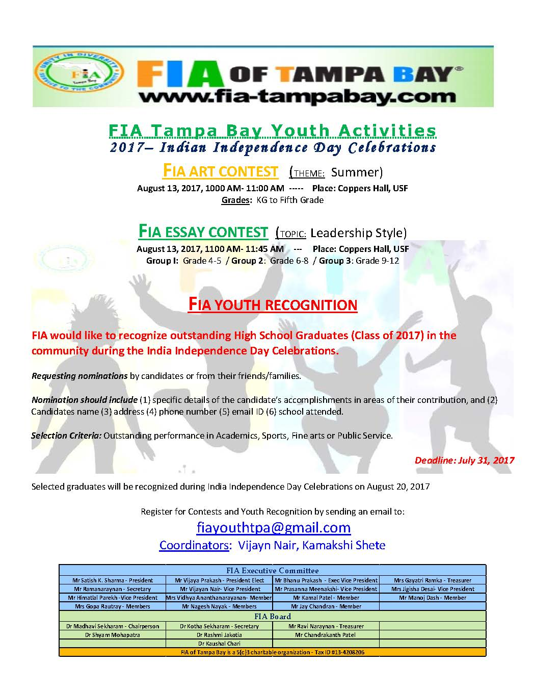 FIA of Tampa Bay - Upcoming Events